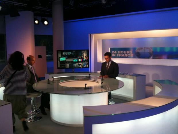Passage sur France24 pour le Facebook book