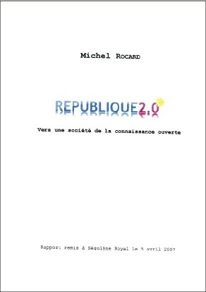Michel ROCARD remet son rapport sur le numérique à Ségolène Royal