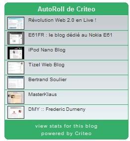 Nouveau classement des blogueurs (par Criteo)