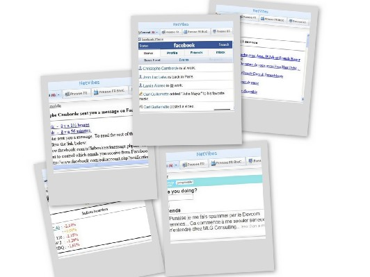 Gmail, Twitter, Hotmail et Facebook complets dans Netvibes (Maj)