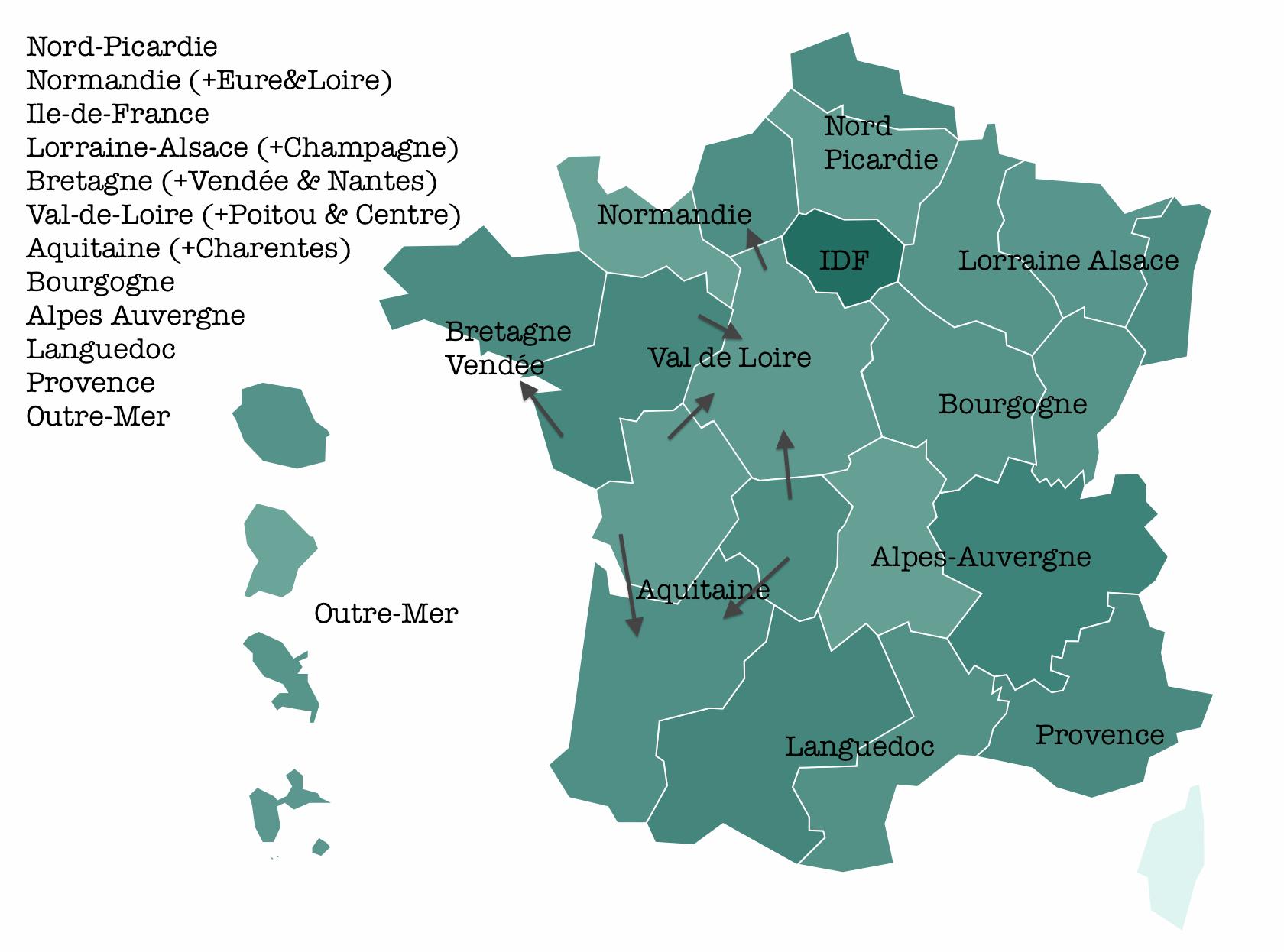 12 régions pour la réforme territoriale française